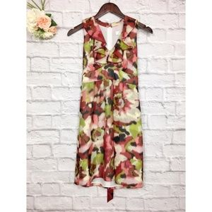 LOFT Multicolored Printed Sleeveless Dress Sz 2